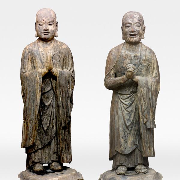 Standing Kasho (Kasyapa) and Standing Anan (Ananda), Kamakura period, 13–14th century, Fukushima, Ryogonji