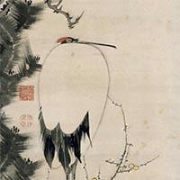 솔나무, 매화나무, 한 마리의 학