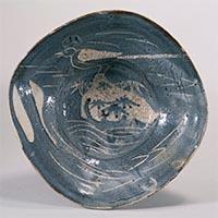 중요문화재 네즈미시노 할미새무늬 대접