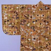 가라오리   갈색바탕 격자 국화가지무늬