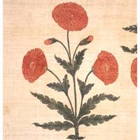 양귀비꽃무늬 친츠 깔개