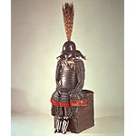 Gusoku-Type Armor with Two-Piece Cuirass, black lacing