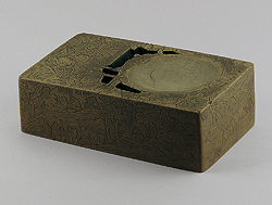 Chaoshou inkstone with Orchid Pavilion scene