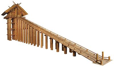 古代の出雲大社推定復元模型