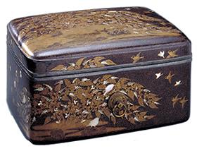 秋野鹿蒔絵手箱