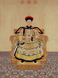 Portrait of Emperor Qian Long in Court Dress