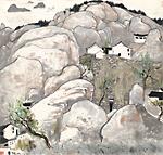 普陀山 呉冠中筆 1980年 中国美術館蔵