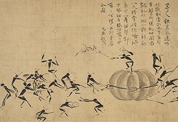 Ants Hauling a Pumpkin