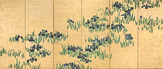 燕子花図屛風