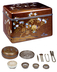 Accessory box and contents