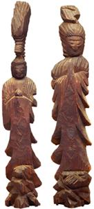 左:龍頭観音菩薩立像、右:聖観音菩薩立像
