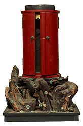 Standing Kangiten (Ganesha) with shrine