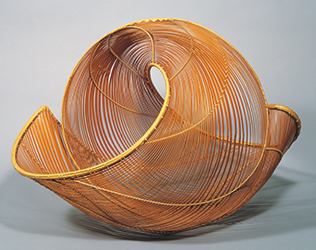 Bamboo flower vessel,