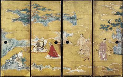 重要文化財 群仙図襖 狩野永徳筆 安土桃山時代・天正14年(1586) 京都・南禅寺蔵