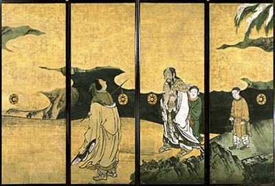 群仙図襖 江戸時代・17世紀 京都・龍安寺蔵