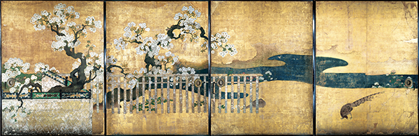 Pheasant Under Cherry Blossoms, Ninoma (Second Room), Kuroshoin,             Ninomaru Palace