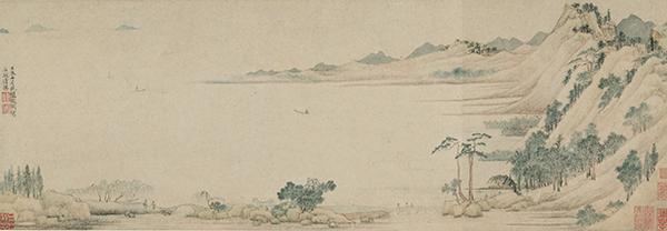 一級文物 石湖清勝図巻