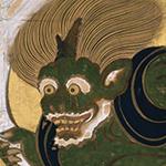 国宝 風神雷神図屏             風(部分) 俵屋宗達筆 江戸時代・17世紀 京都・建仁寺蔵