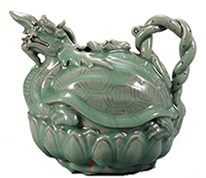 Turtle-shaped Ewer, Celadon glaze