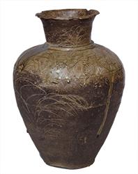 Jar, Autumn grasses design
