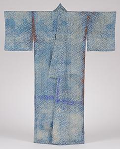 絹地染小紋型長着(高田歌舞伎衣装)