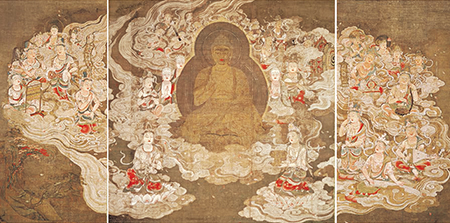 Descent of Amitabha and the Heavenly Multitude