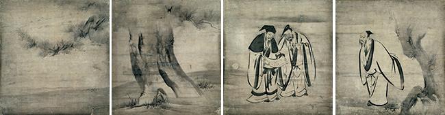 重要文化財 竹林七賢図
