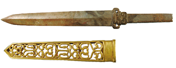 Jade sword and gold scabbard