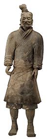 Pottery figure of infantryman