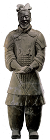 Pottery figure of general