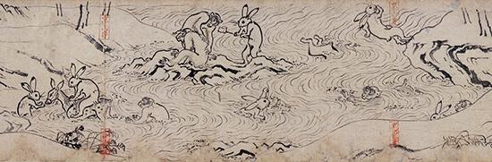 鳥獣人物戯画 甲巻