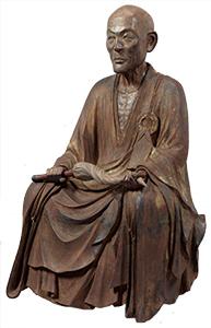 蘭渓道隆坐像