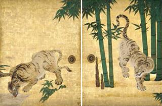 南禅寺本坊小方丈障壁画のうち 群虎図