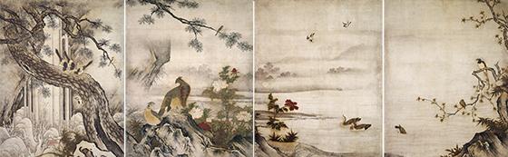 大仙院障壁画のうち 四季花鳥図