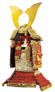 赤糸威大鎧(竹虎雀餝)