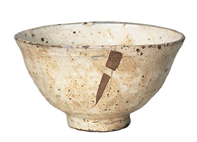 "Tea Bowl, Kohiki (""powdery"") type, Known as the Miyoshi kohiki"