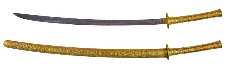 金板装拵刀