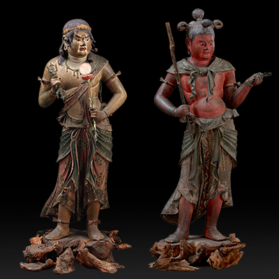 国宝 八大童子立像のうち恵光童子・制多伽童子 和歌山・金剛峯寺蔵