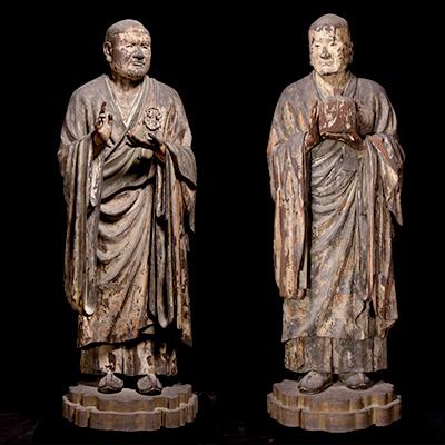 国宝 無著菩薩立像・世親菩薩立像 奈良・興福寺蔵