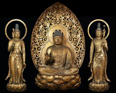 重要文化財 阿弥陀如来坐像および両脇侍立像 神奈川・浄楽寺蔵