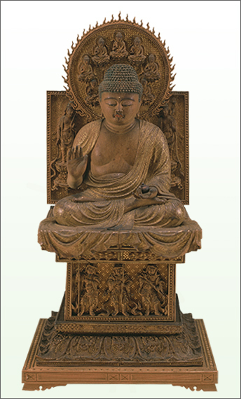 Seated Yakushi Nyorai (Bhaisajyaguru), National Treasure