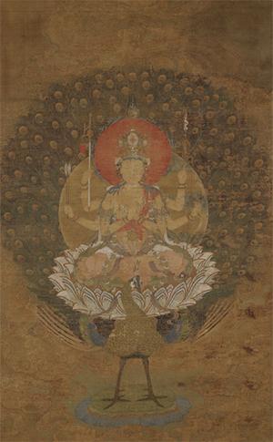 国宝 孔雀明王像 京都・仁和寺蔵