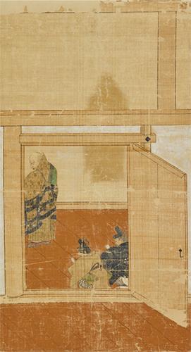 重要文化財 僧形八幡神影向図 鎌倉時代・13世紀 京都・仁和寺蔵