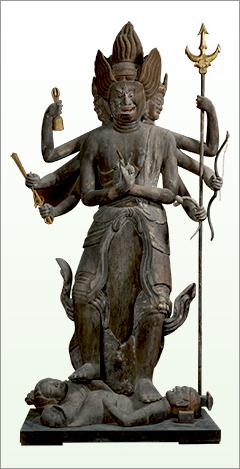 Standing Gozanze Myo′o (Trailokyavijaya), Important Cultural Property