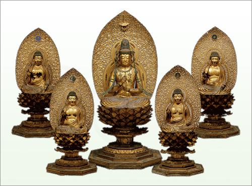 重要文化財 五智如来坐像 平安時代・12世紀 大阪・金剛寺蔵