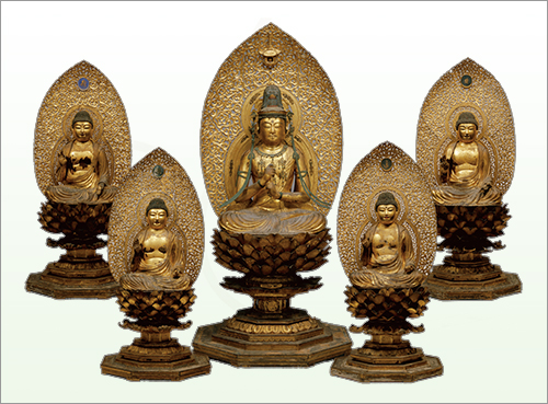Seated Five Wisdom Nyorai (Pancajnanani Tathagata), Important Cultural Property