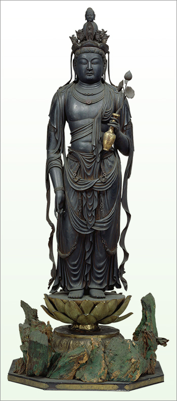 Standing Eleven-headed Kannon Bosatsu (Ekadasamukha), National Treasure