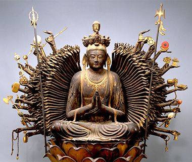 Seated Thousand-armed Kannon Bosatsu (Sahasrabhuja), National Treasure