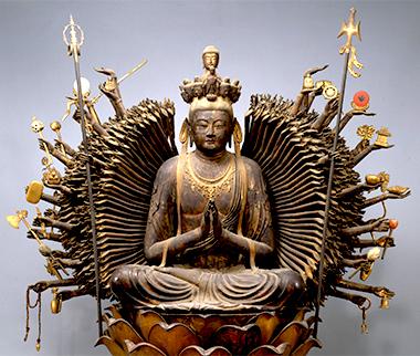 国宝 千手観音菩薩坐像  奈良時代・8世紀 大阪・葛井寺蔵