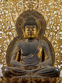 国宝 阿弥陀如来坐像  平安時代・仁和4年(888) 京都・仁和寺蔵